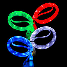 1M Luminous LED Light Micro USB Fast Charging Data Charger Cable For Samsung HTC