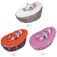 Cute Soft Infant Baby Bean Bag Adjustable Harness Kids Toddler Bed Chair Bouncer