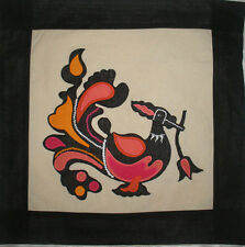 pink peacock cushion cover 16x16 inches hand made in Sri Lanka