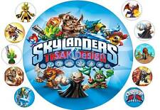 7 inch skylanders Cake and 10 cup cake topper on Edible Rice Paper