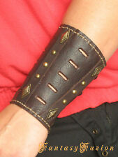 Steampunk Medieval Futurist Sci Fi Armor Leather BracerS -A Pair-