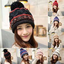 Fashion Women Girls Warm Winter Ski Beanie Knit Crochet Baggy Hat Cap Hot 198