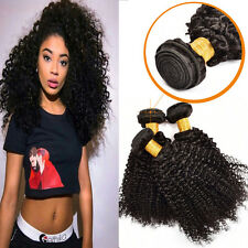 Virgin Brazilian Curly Hair 3 Bundle 300g Kinky Curly Weave Human Hair Extension