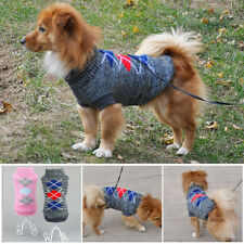 Medium Small Pet Dog Puppy Sweater Knit Costume Coat Cloth Apparel Winter Warm