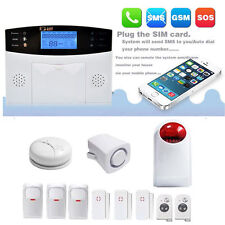GSM Anti-Theft Detector Warning Home Security Alarm System LCD Auto Dialer EK