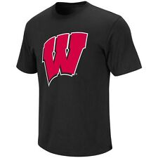 Wisconsin Badgers Womens Primary Logo T-Shirt (Black)