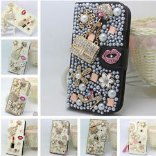 Full Bling Diamond Jewelled Crystal Leather Flip Wallet Card Case Stand Cover #A
