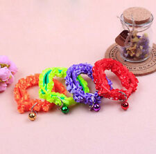 1Pcs Decorated bells Lace Collar Pet Collar Cat And Dog Anti-lost Small Collar