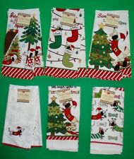 Assorted Dachshund Dog Christmas Holiday Tea / Kitchen Towels by Ritz
