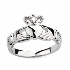 925 Sterling Silver Claddagh Ring Heart Celtic Crown Irish Women Wedding Band