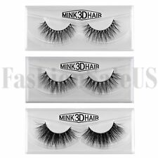 100%Real Mink Natural 3D False Fake Eyelashes Eye Lashes Makeup Extension 1 Pair