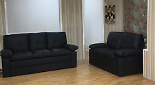 New Faux Leather Sally Set in Black or Brown 3 + 2 Seater Sofa Suite