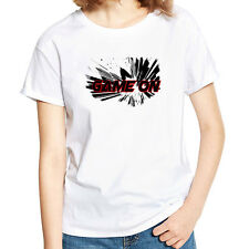 Stylish Women Game Letter Print Tee Shirt Summer Short Sleeve T-shirt Top Finest