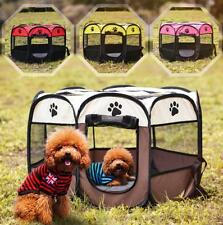 Portable Oxford Pet Dog Cat Playpen Tent Outdoor Kennel Cage Crate Bag New