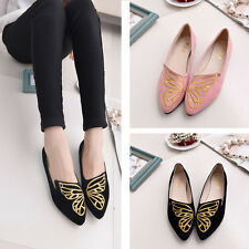 2017 Womens Slip On Pointy Toe Comfort Loafer Canvas Flats Casual Summer Shoes