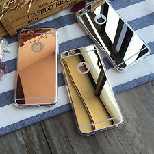 Anti Scratch Luxury Ultra Thin Soft Mirror Metal Case For Apple iPhone Models