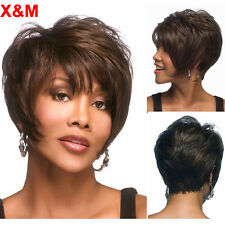 Short pixie Synthetic Wig Short dark Brown Wigs For Black Women  Short Wavy wig