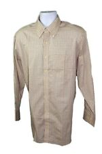 Tommy Hilfiger Men's Multi Cotton Button Down Long Sleeves Plaid Dress Shirt