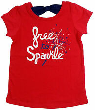 NWT Jumping Beans, Free to Sparkle, Girls Red Tee, Size 9M 12M 18M 24M, 2T 3T 4T