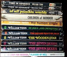 William Tenn Lot of 11 vintage science fiction paperbacks