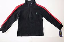 NWT $49.50 POLO RALPH LAUREN Boys Sweater Kids Toddler Zip Pullover