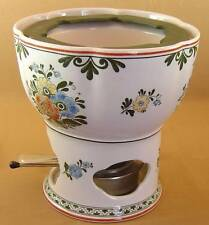 Alt Amsterdam by Villeroy & Boch - Open China Fondue Pot/Warmer with accessories