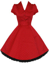 Hearts and Roses (H&R) Pin Up Rockabilly Retro Red Alana Shirt Dress Vintage