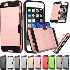 Slim Sleek Case With ID Credit Card For iPhone/Samsung Slot Holder Cover H0046