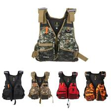 Camo Life Jacket Kayak Canoe Swimming Boating Rafting Fishing Ski Vest + Whistle