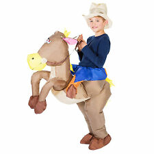 CHILDRENS INFLATABLE COWBOY KIDS FANCY DRESS COSTUME PARTY OUTFIT