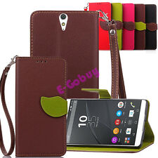 PU Leather Wallet Magnetic Protective Case Cover For SONY Xperia Z3 M4 Aqua