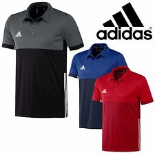 adidas Mens T16 Climacool Sports Polo Shirt Running Gym T-Shirt Top