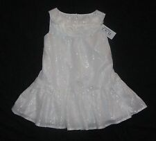 NWT Toddler Girls CHILDRENS PLACE Dress - White & Silver - size 2T or 4T