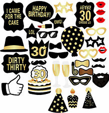 New 36PCS 30th Birthday Party Decor Graphix DIY Photo Booth Props Photo Booth H