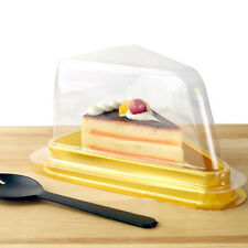 Disposable Plastic Cake Box Muffin Holder Box Food Bakery Container Clear 10Pcs