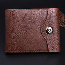 Men Faux Leather Money Clip Slim Trifold Wallet ID Credit Bank Card Holder Purse