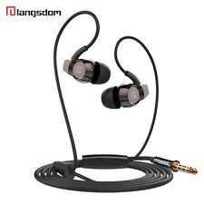 Langsdom Stereo Headphones 3.5MM Earphones Earbuds Super Bass Headset Handsfree