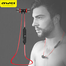 AWEI Stereo Headset Neckband Running Earphones With Mic For iPhone Android Phone