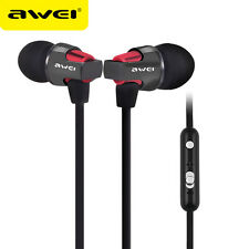 AWEI Super Bass Sound Headphone Stereo Earphones Metal In-Ear Headset For Phones