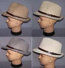 Fedora Trilby Hats Men Hats  Women Hats 4 Color Choice (FedHat87*^)