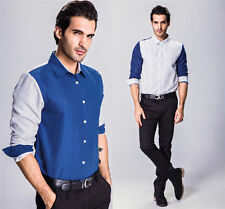 Stylish Mens New Luxury Long Sleeve Casual Shirt Slim Fit Dress Shirts Tops w56