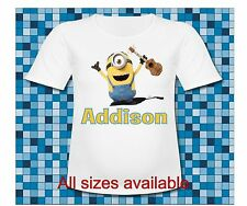 Personalized Hooray for the Birthday Boy Minions T Shirt Despicable me 3 T Shirt