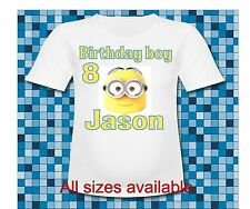 Mom of the Birthday Boy Mom Minion T Shirt Despicable me Minion Face T Shirt
