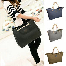 Lady Canvas Tote Shoulder Bag Handbag Satchel Bag Single Or Double Rope 06c
