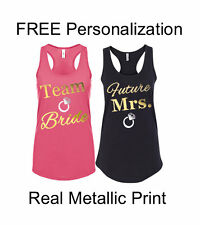Bridesmaid Tank Tops Bachelorette Party Shirts Personalized Custom Bridal Party
