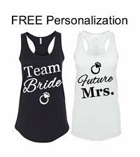 Personalized Bridesmaid Gifts Bridal Party Tank Tops Bachelorette Party Shirts