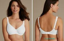 """UK """"M&S""""Seamless Non-padded Stretchy Wired MINIMIZER Bras Pink White Black Beige"""
