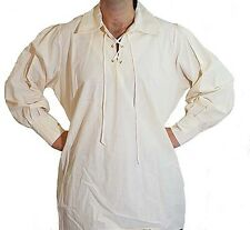 Medieval-LARP-SCA-REENACTMENT-ROLE PLAY-PIRATE COSPLAY MENS EYELET SHIRT
