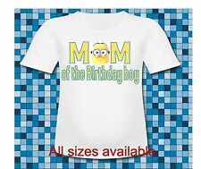 Despicable me Minion Dad of the Birthday Boy T Shirt All sizes and sayings