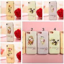 Range Hard PC Glossy back Skin Pictorial FLOWERS Patterned Cover Case For iPhone